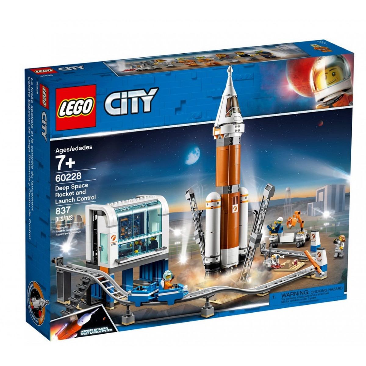 LEGO CITY DEEP SPACE ROCKET AND LAUNCH CONTROL (60228 ...