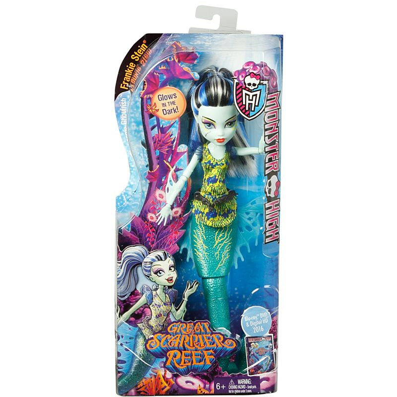 Monster High® Great Scarrier Reef Glowsome Ghoulfish™ Frankie Stein® Doll (DHB55)