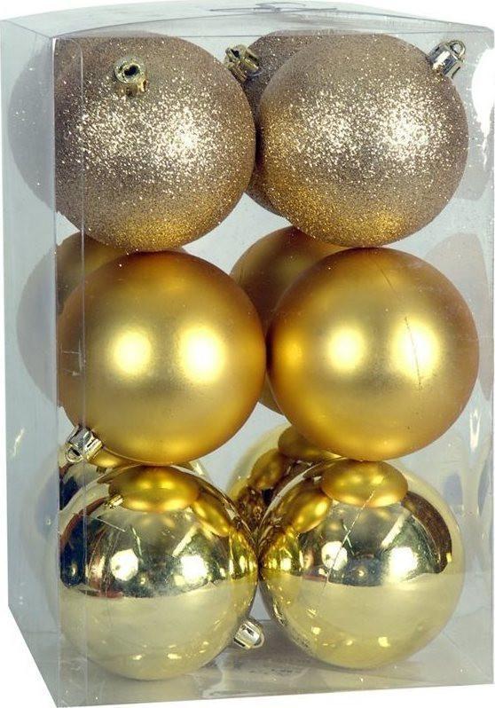 Χριστουγεννιάτικη μπάλα 8εκ. Set 24τμχ. ΧΡΥΣΗ (04.B-8012-G)