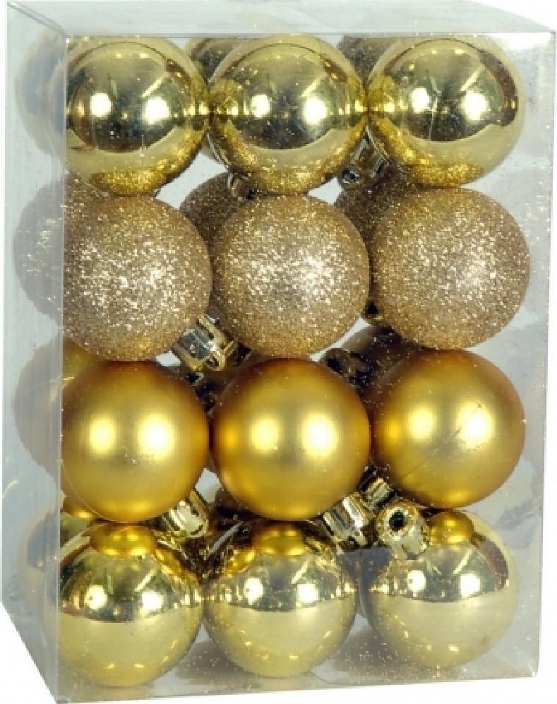 Χριστουγεννιάτικη Μπάλα 4 εκ Set 24 τμχ ΧΡΥΣΗ (04.B-4024-G)