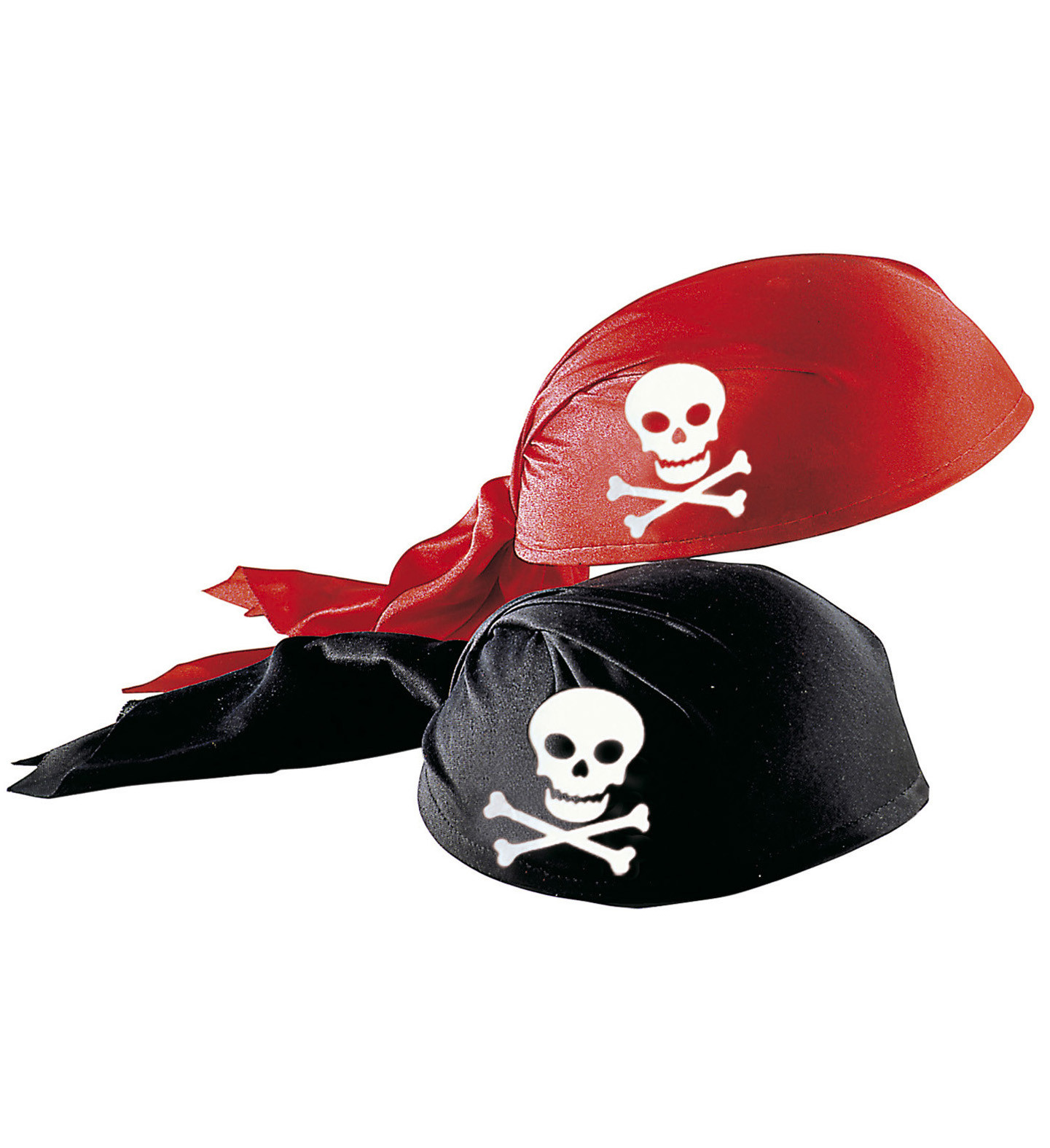 """""""FABRIC PIRATE HAT"""" red & black ass."""