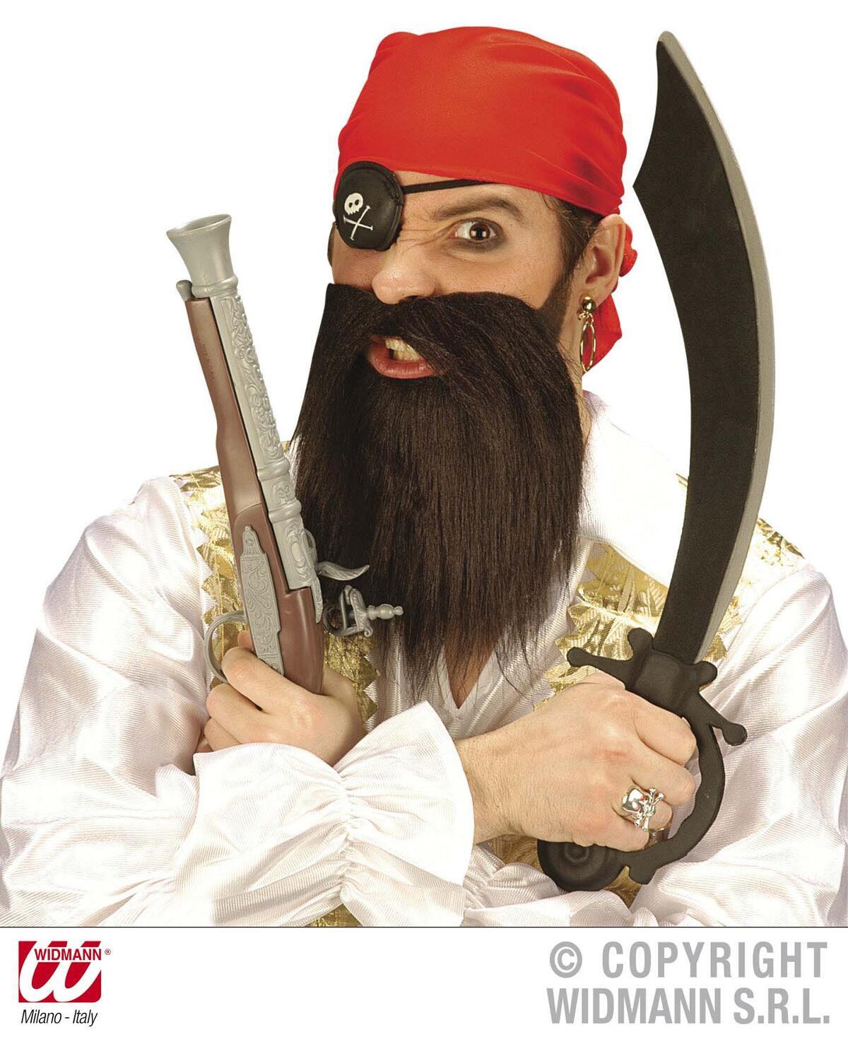 ΣΕΤ ΠΕΙΡΑΤΗ (μπαντάνα, καλυμμα ματιου, γενειάδα με μουστάκι) - image 1-thumbnail