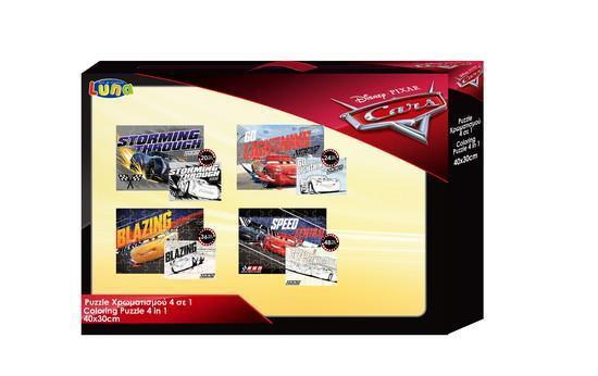PUZZLE 4 ΣΕ 1 20-24-36-48TEM 30Χ40ΕΚ CARS (000562072)