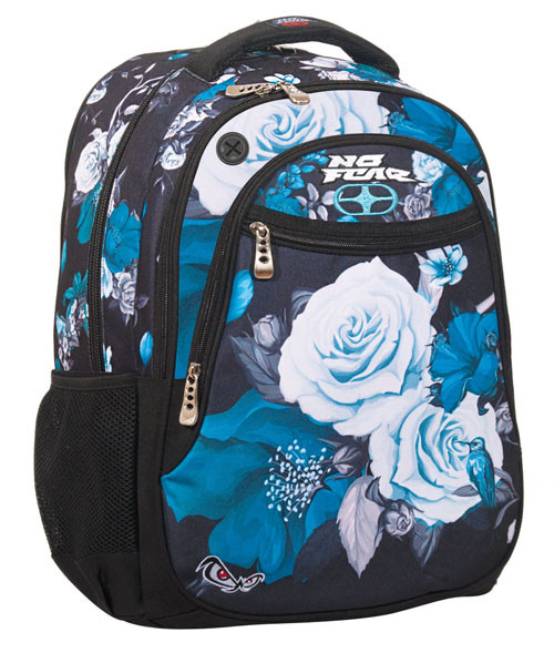 BMU ΣΑΚΙΔΙΟ ΟΒΑΛ NO FEAR BLUE FLOWERS(347-56031)