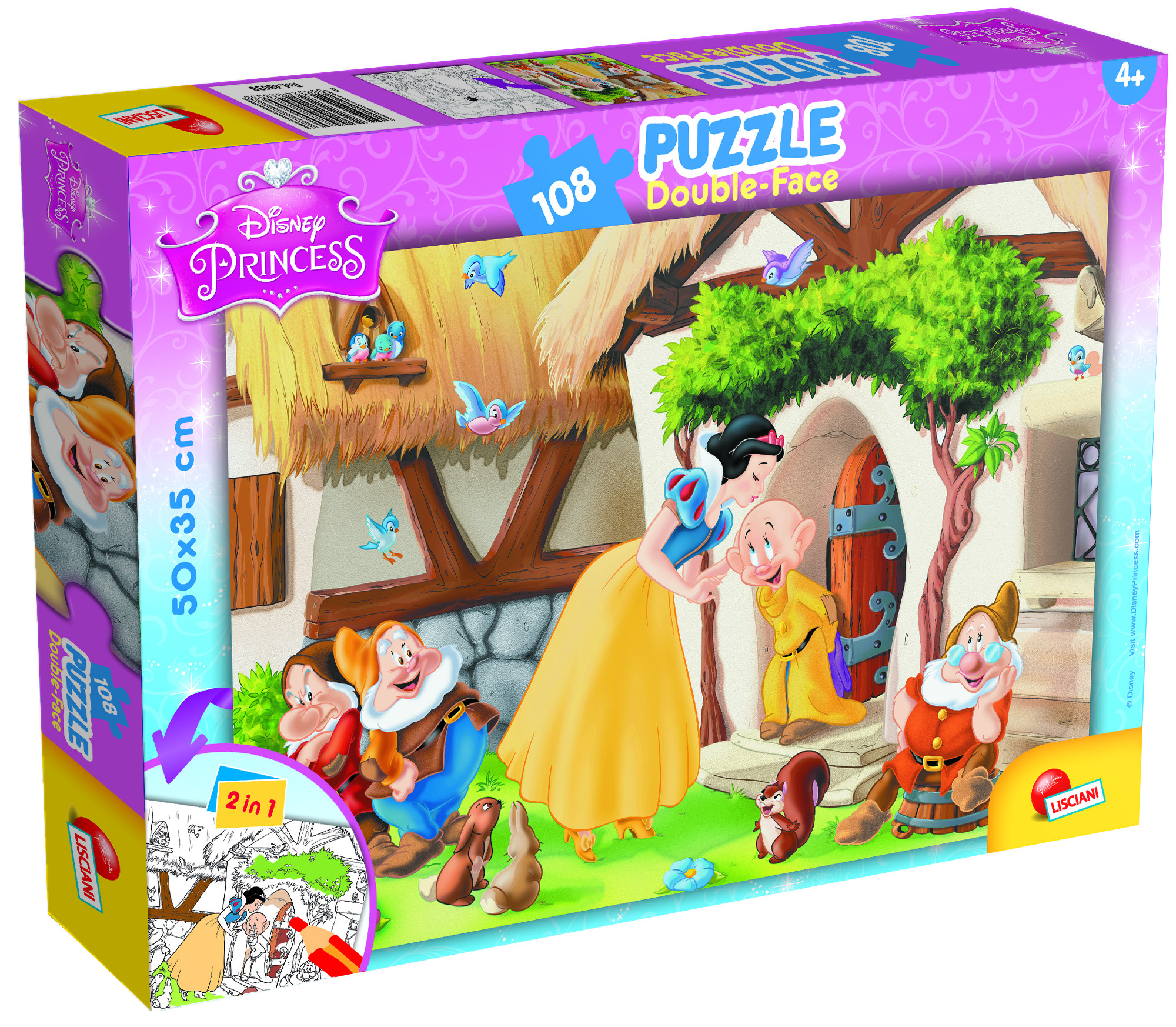 PUZZLE PLUS 108 SNOW WHITE (48038)