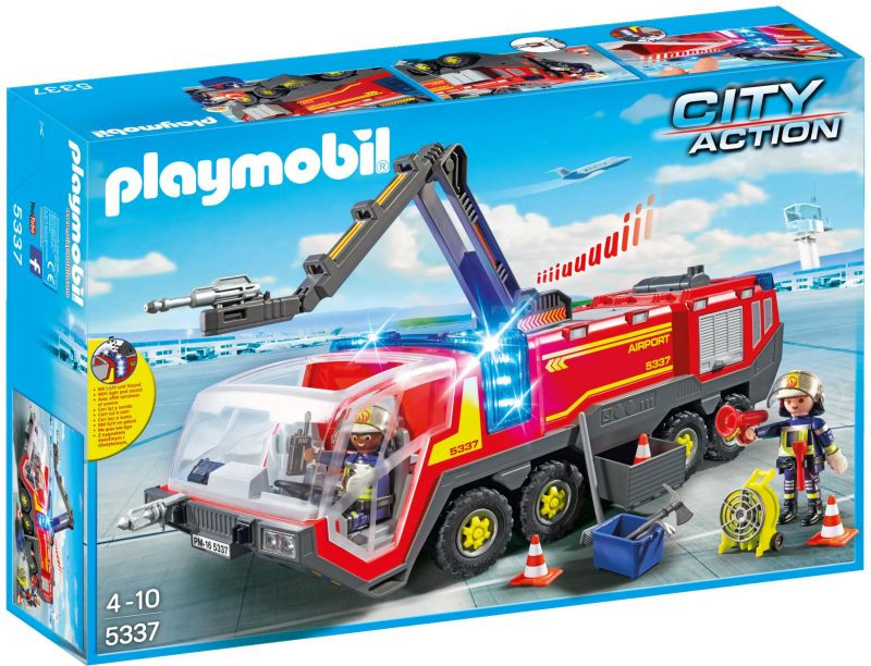 Playmobil Πυροσβεστικό Όχημα Αεροδρομίου Με Φώτα & Ήχο (5337)
