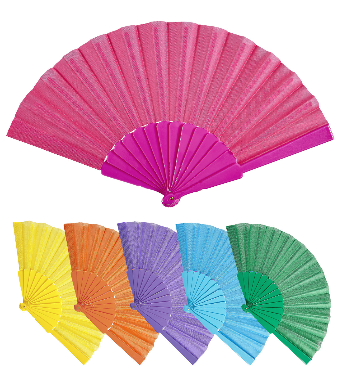 """FABRIC FAN"" 23 cm - 6 colors ass"