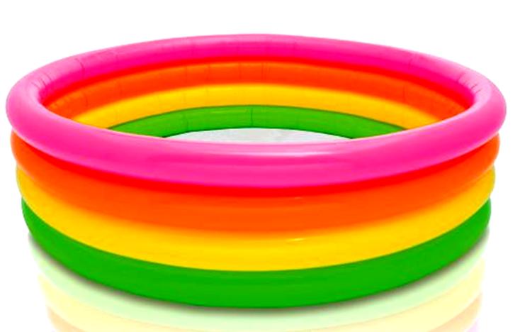 Intex Πισίνα 4 Δαχτυλίδια Sunset Glow (56441NP)