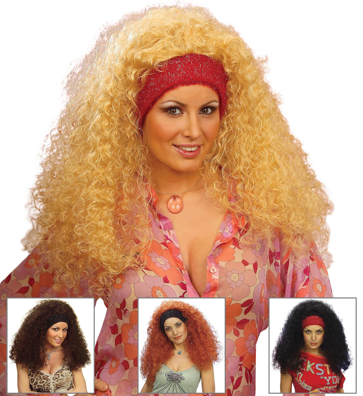 """RAMONA WIG"" in polybag - 4 colorsass.: black, blonde, brown, auburn"