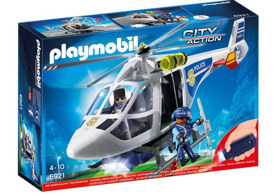 Αστυνομικό ελικόπτερο με προβολέα LED