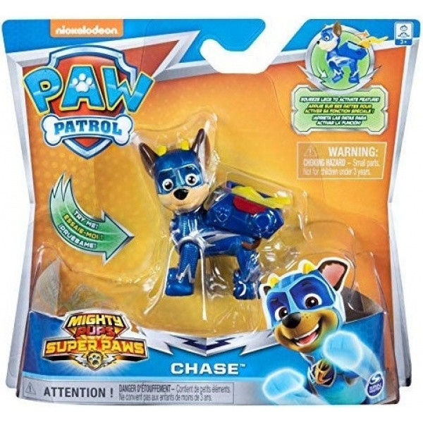 Paw Patrol Mighty Pups Super Paws Κουταβάκια Ήρωες Chase (054634)