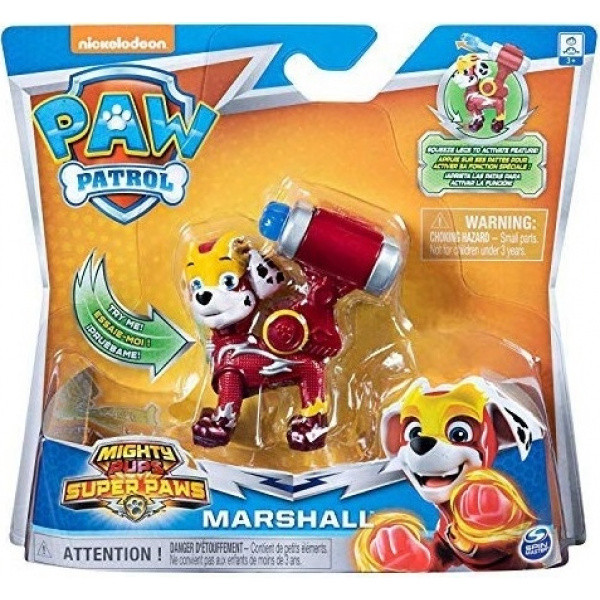 Paw Patrol Mighty Pups Super Paws Κουταβάκια Ήρωες Marshall (054635)