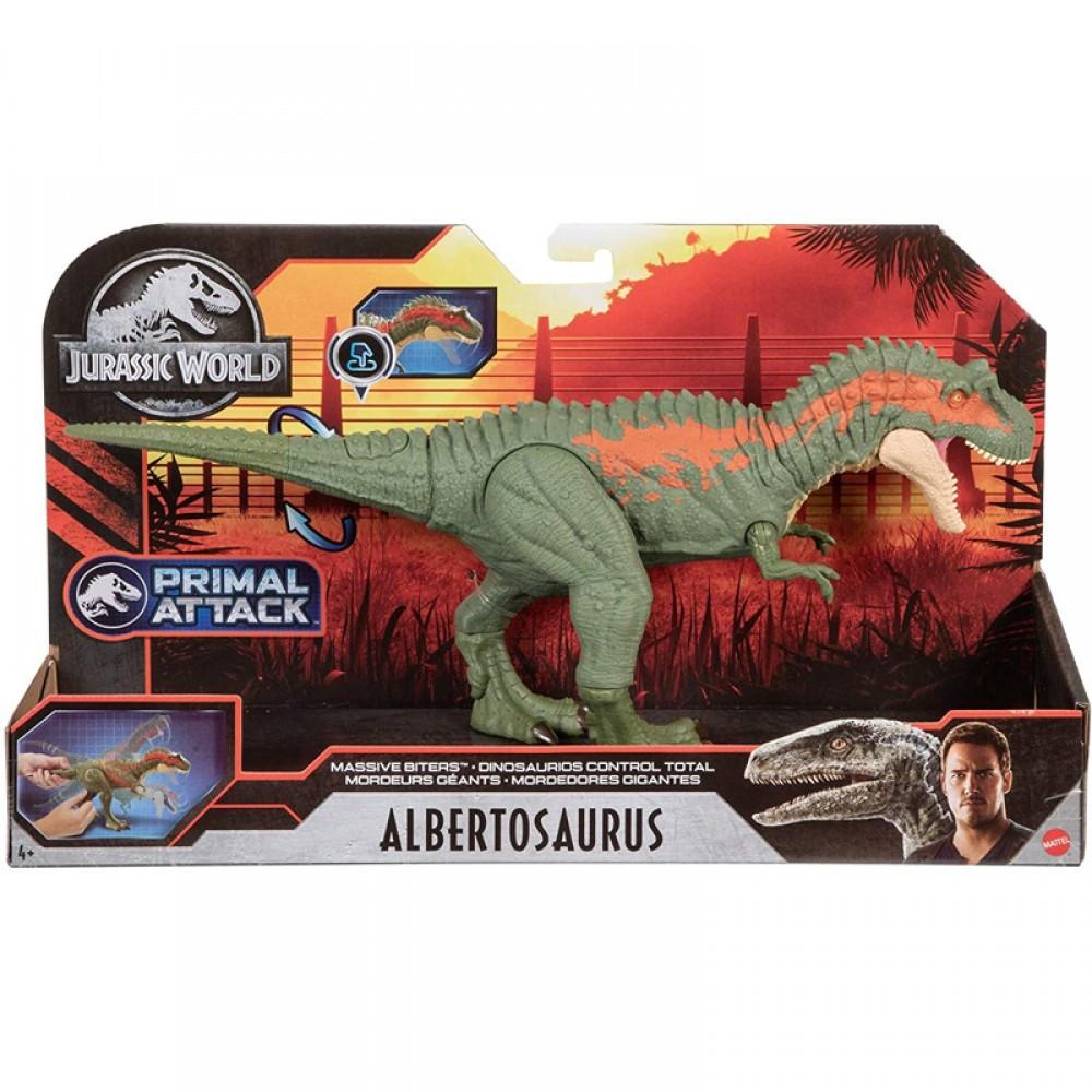 Jurassic World Δεινοσαυροι Με Κινουμενα Μελη & Λειτουργια Επιθεσης Mattel (GVG67)