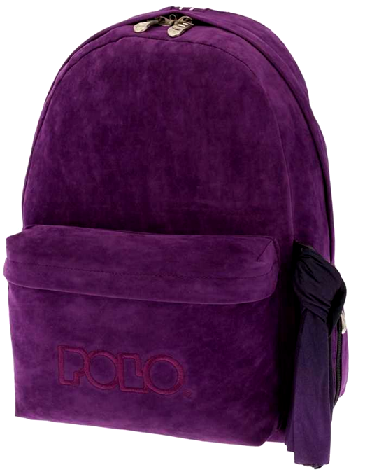 POLO Τσάντα Velvet Style Μωβ (9-01-135-62)