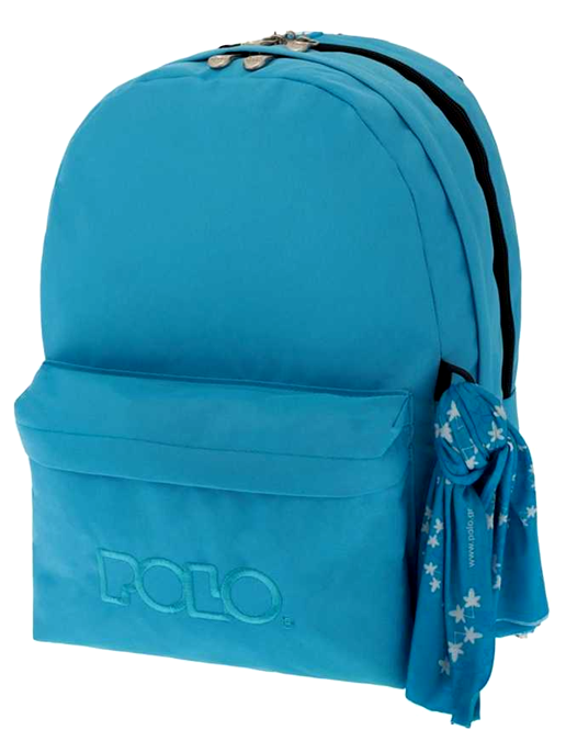 POLO Τσάντα Double Scarf Γαλάζιο (9-01-235-17)