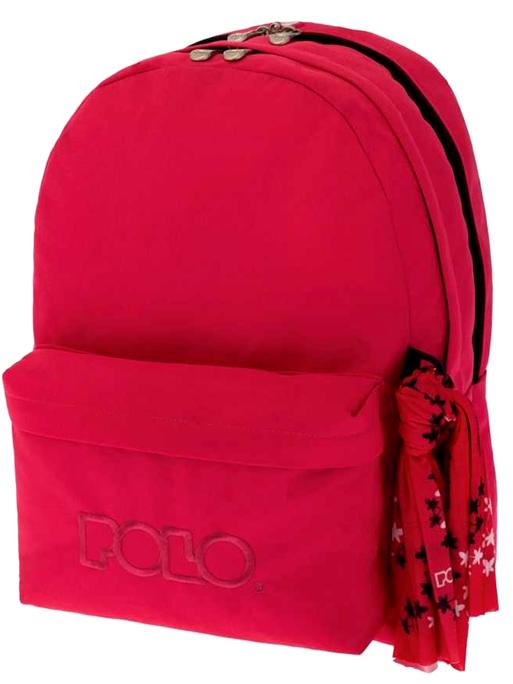 POLO Τσάντα Double Scarf Φούξια (9-01-235-19)