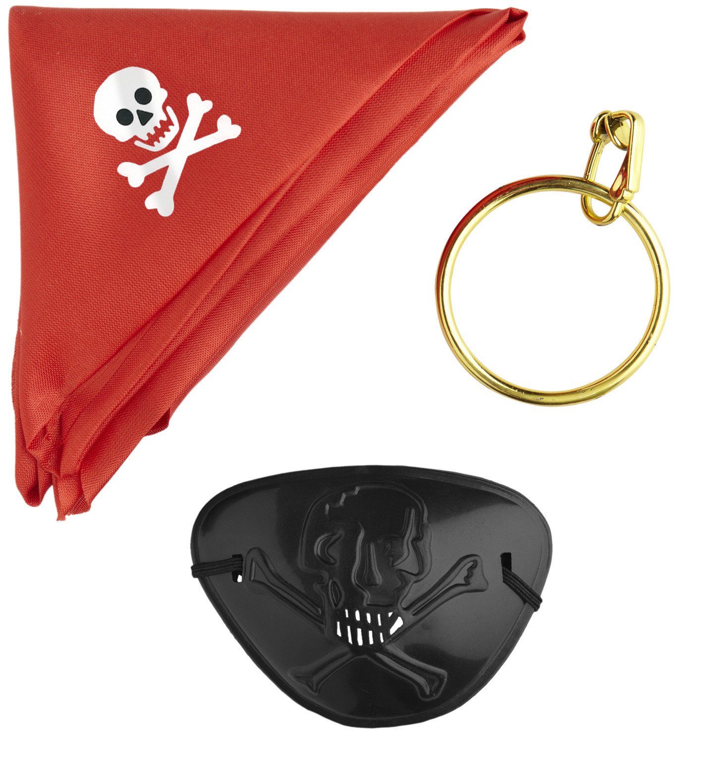"""PIRATE SET"" (bandana, eyepatch, earring)"