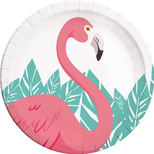 Πιάτα Μεγάλα Flamingo 8 τμχ. (089592)