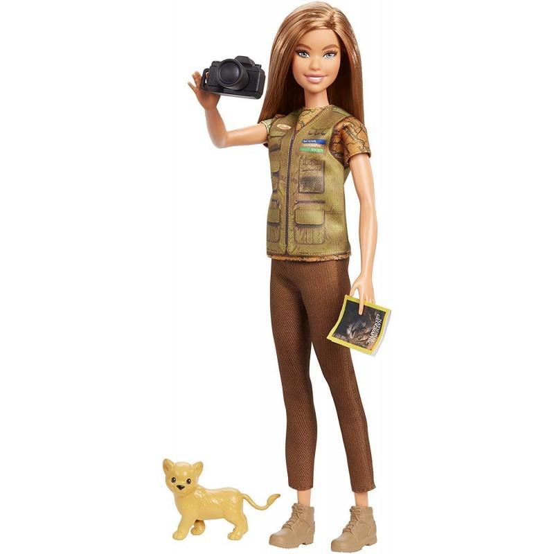 Mattel Barbie National Geographic Φωτορεπόρτερ (GDM46)