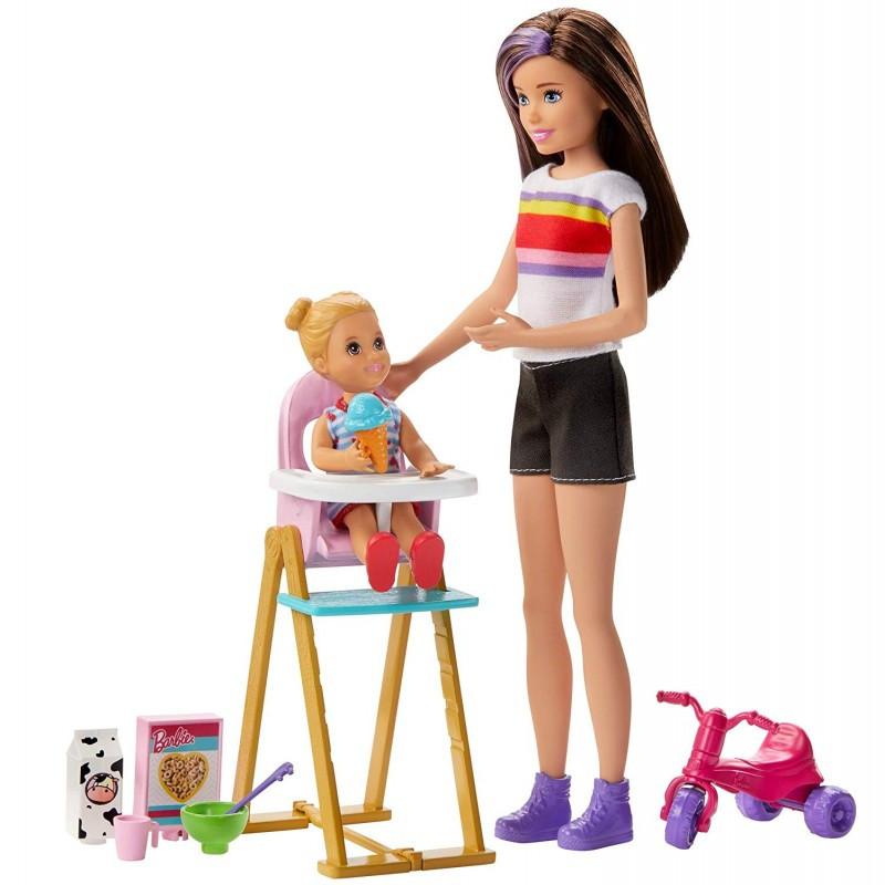 Mattel Barbie Skipper Babysitters - Ώρα Για Φαγητό Κούκλα Και Αξεσουάρ (GHV87)