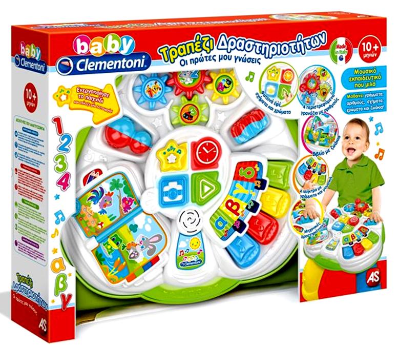 Clementoni Baby Τραπέζι Δραστηριοτήτων Οι Πρώτες μου Γνώσεις (1000-63595)
