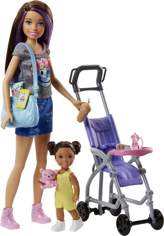 Barbie Σκίπερ Babysitter-Βόλτα Με Το Μωρό (FJB00)