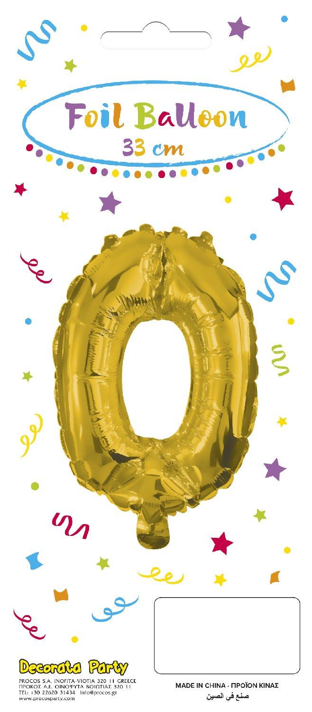 Decorata Party Gold Foil No 0 Μπαλόνι - Χρυσό (089651)