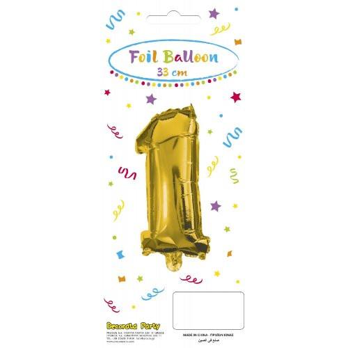 Decorata Party Gold Foil No 1 Μπαλόνι - Χρυσό (089642)