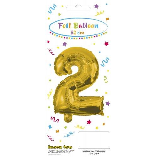 Decorata Party Gold Foil No 2 Μπαλόνι - Χρυσό (089643)