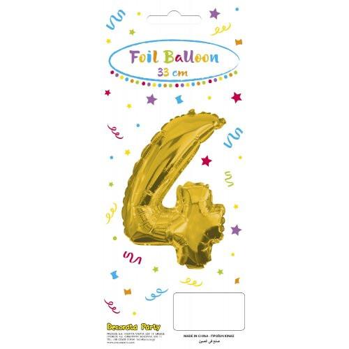 Decorata Party Gold Foil No 4 Μπαλόνι - Χρυσό (089645)