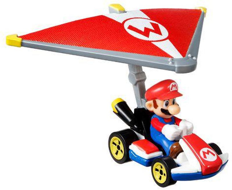 Hot Wheels Mario Kart Αυτοκινητάκια Με Ανεμόπτερο 7 Σχέδια (GVD30)