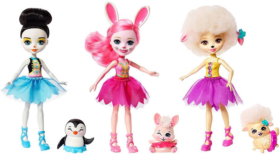 Mattel Enchantimals Ballett Dancers (3 Σχέδια) - (FRH55)