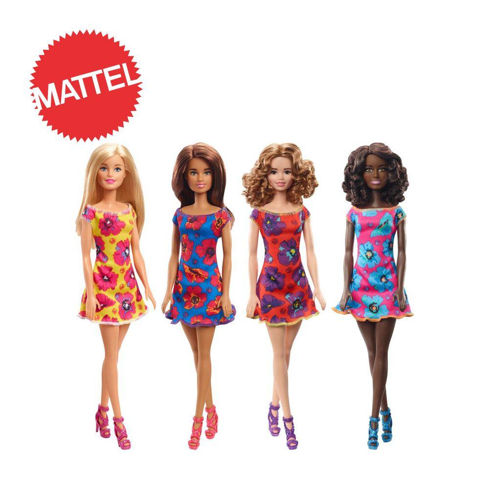 Barbie Λουλουδάτα Φορέματα-4 Σχέδια (GBK92)