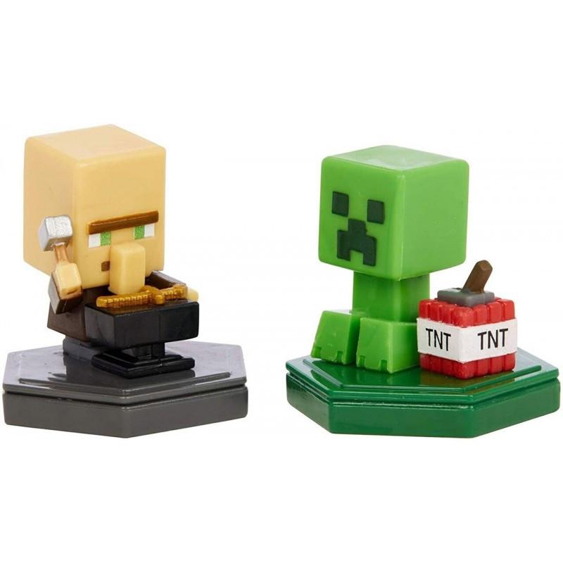 Mattel Minecraft Boost Mini 2 Φιγούρες Με Τσιπάκι Repairing Villager And Mining Creeper GKT41 / GMD15