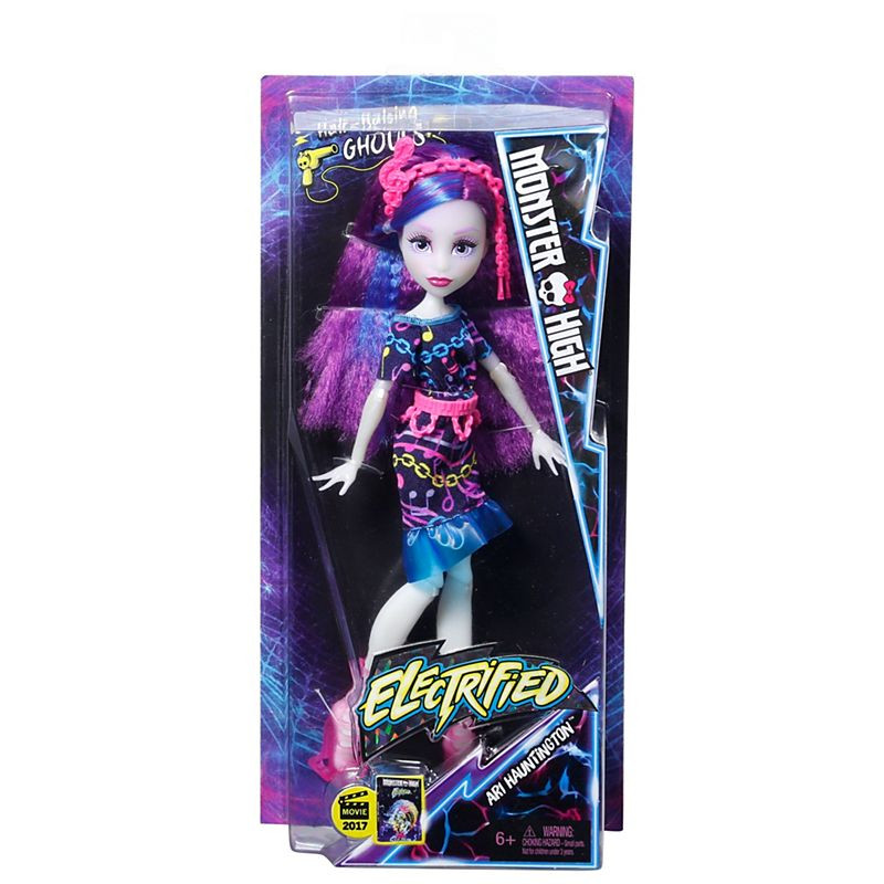 Monster High® Electrified Hair-Raising Ghouls™ Ari Hauntington™ Doll (DVH68)