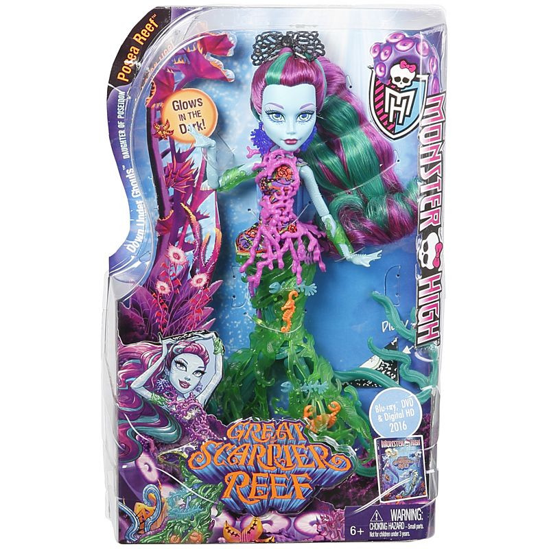 Monster High® Great Scarrier Reef Down Under Ghouls™ Posea Reef™ Doll (DHB48)