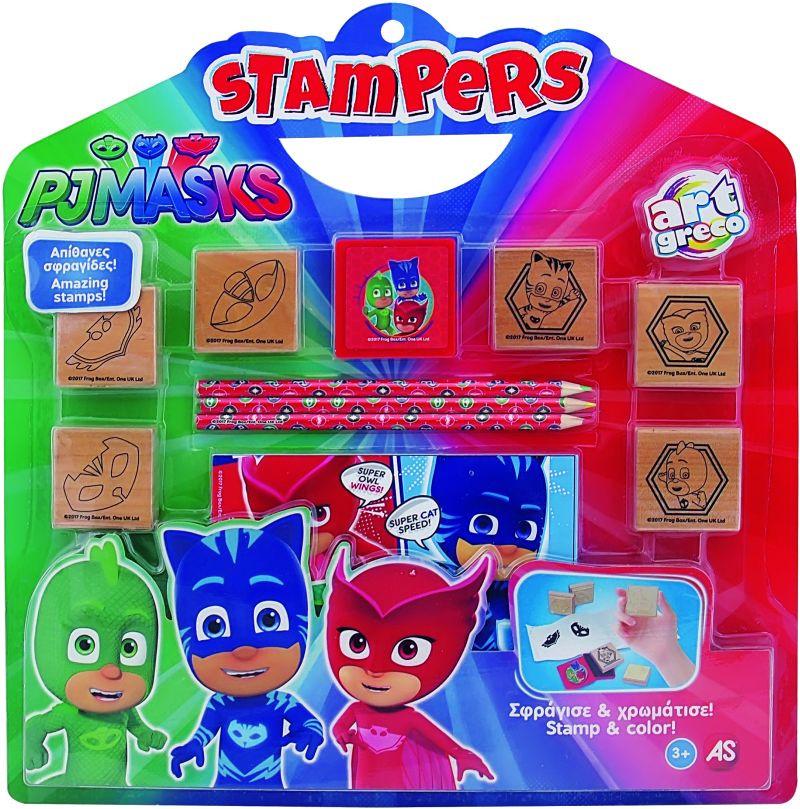 Pj Masks Σετ Σφραγίδες Stampers (1023-63028)