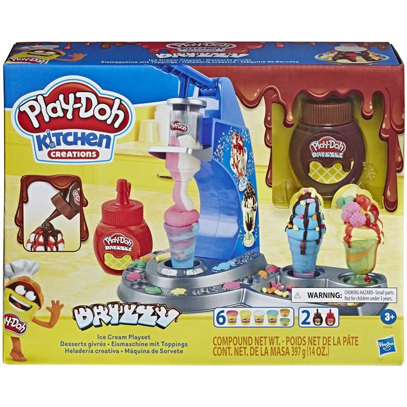 Hasbro Play-Doh Kitchen Creations Drizzy Ice Cream Playset (E6688)