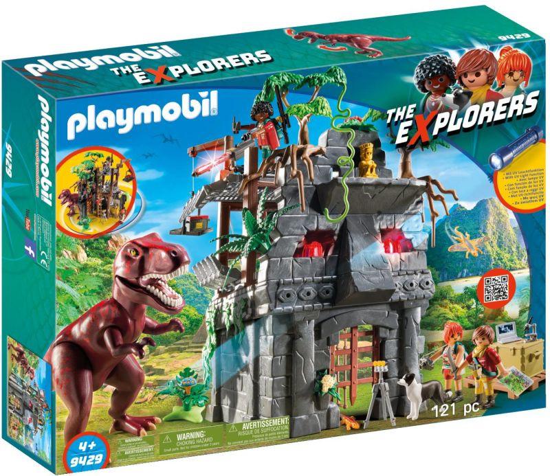 Playmobil Αρχηγείο Των Explorers & T-Ρεξ (9429)