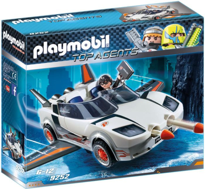 Playmobil TOP AGENTS Κατασκοπικό Όχημα Του Πράκτορα Π (9252)