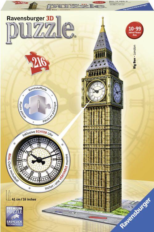 Ravensburger Παζλ 3D Big Ben Ρολόι (12586)