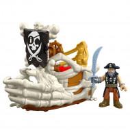 Fisher-Price Imaginext - Πειρατικό Πλοιάριο, Πλάσματα του Βυθού με Φιγούρα και Αξεσουάρ DHH64