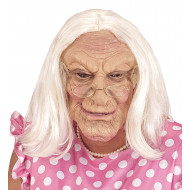 """OLD WOMAN MASK WITH WIG"""
