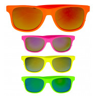 """80'S WAYFARER GLASSES WITH REVO LENSES"" 4 colors assorted"