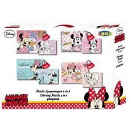MINNIE MOUSE PUZZLE ΧΡΩΜΑΤΙΜΟΥ 4 ΣΕ 1 (562087)