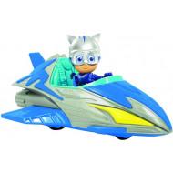 PJ Masks Save The Sky Ιπτάμενο Όχημα Με Φιγούρα - 3 Σχέδια (PJMC1000)