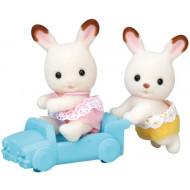 Sylvanian Families Δίδυμα Μωρά Chocolate Rabbit Twins