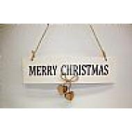Χριστουγεννιάτικο Ξύλινο Στολίδι Πινακίδα 15εκ
