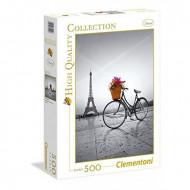 Παζλ Clementoni 500 H.Q. Ποδήλατο με Λουλούδια στο Παρίσι (1220-35014)