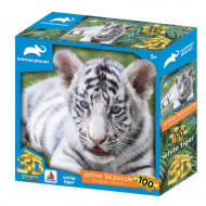 3DΠαζλ100 Animal Planet – White Tiger